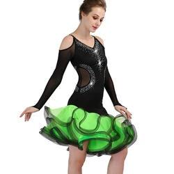 Сексуальное платье для латинских танцев, одежда для латинских танцев, платье с длинными рукавами, платье для взрослых, платье для латинских