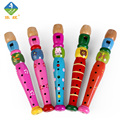 Animal Flute Wooden Colorful Cartoon Animal Flute Early Music Education Musical Instruments For 1~3 Years Old Children