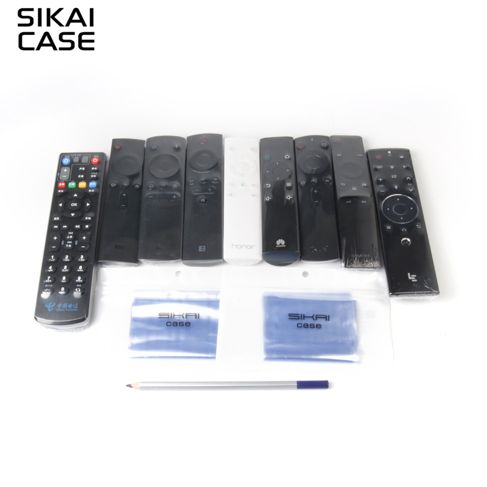 SIKAI 10 STK Krympfilm för Apple Samsung LG TV Luftkonditionering Fjärrkontrollskåpa Värmekrympfilm för TV Fjärrskydd
