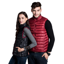 Winter Jacket Women Vest 100% White Duck Down Double-Sided Colors Vests 2016 New Arrival Sexy Lovers Slim Short Jackets Parkas
