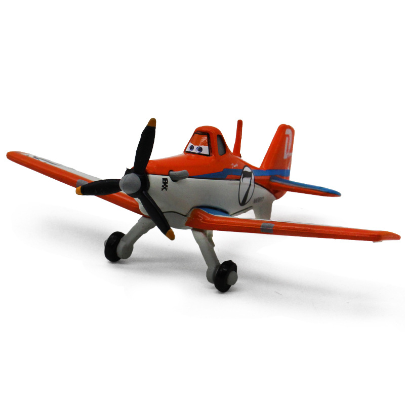 Disney Pixar Cars 2 Planes 2 No.7 Dusty Crophopper 7cm Metal Diecast Alloy Classic Toy Plane Model For Children Gift 1:55 New