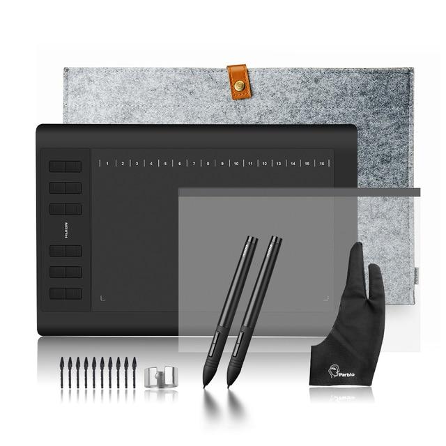 Huion新1060プラス職業描画タブレット8192レベルペン圧力タブレット