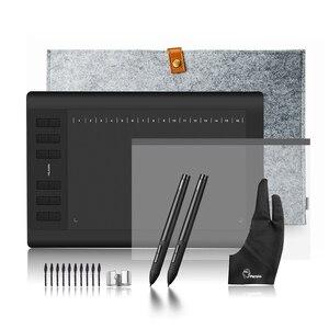 Image 1 - Новый профессиональный планшет для рисования Huion 1060 Plus, планшет с уровнем давления ручки 8192