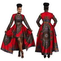 Hitarget 2019 African Dresses for Women Dashiki Cotton Wax Print Batik Sexy Long Dress for Femal Traditional clothing WY1268