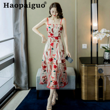 Plus Size Print Floral Dress Summer Style for Ladies Spaghetti Strap Sleeveless Women Party Dress Flower Casual Midi Wrap Dress fairy style sleeveless tiny flower pattern dress for women