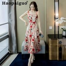 Plus Size Print Floral Dress Summer Style for Ladies Spaghetti Strap Sleeveless Women Party Dress Flower Casual Midi Wrap Dress