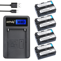4Pc NP FM50 NP FM55H FM50 Rechargeable Camera Digital Battery LCD USB Charger For Sony NP