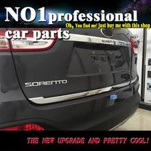 Car Styling Rear Door Tail Gate ABS Trim Cover Sticker For Honda KIA Sorento L 2015 2016 Exterior Tail door trim Decoration