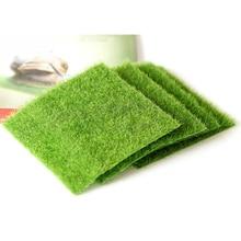 Artificial Green Grass DIY Fake Moss Miniature Garden Ornament Craft 15x15cm