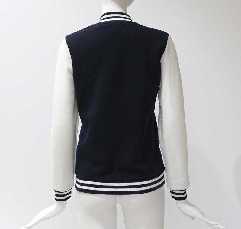 HTB1GfSWXffsK1RjSszgq6yXzpXaU Women Baseball Jacket Casacos Femininos Preppy College Jackets Bomber Jacket 2018 New Autumn Winter Coats Basic Outwear XXL