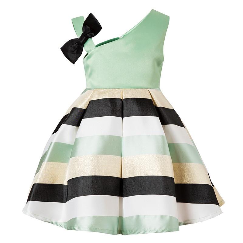 Girls Princess party dress rose embroidery flower child dress girl wedding birthday tutu dress 2018 summer baby kids clothing