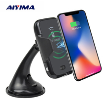 AIYIMA Car Mount Qi Wireless Charger Automatic Induction Phone Holder For iPhone XS Max X XR 8 Samsung Note 9 S9 S8