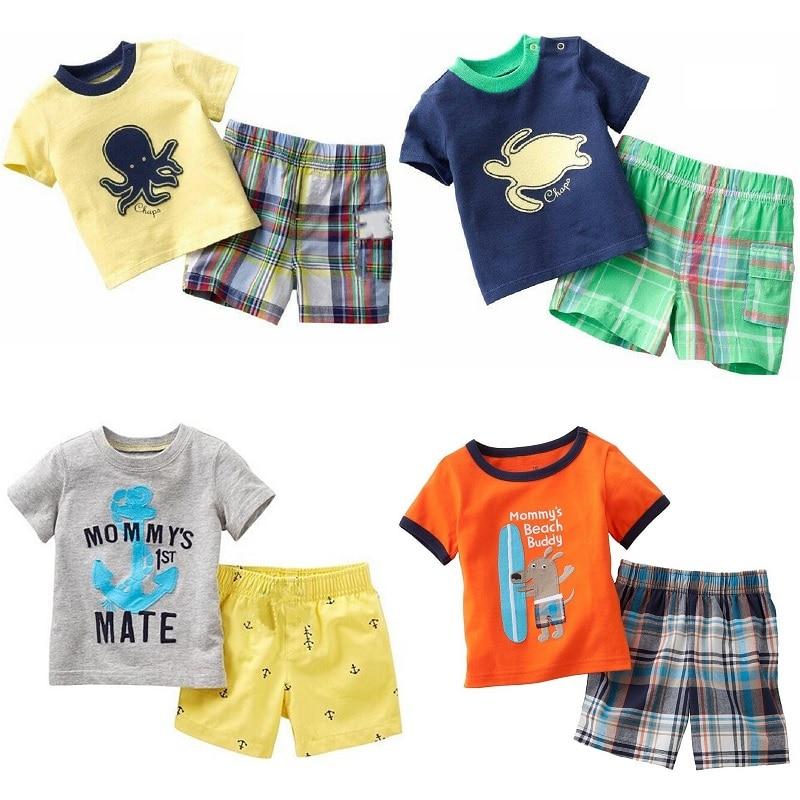 6-24 Months 2 Colors Baby Boy Toddler Anchor Sailor Cotton Romper