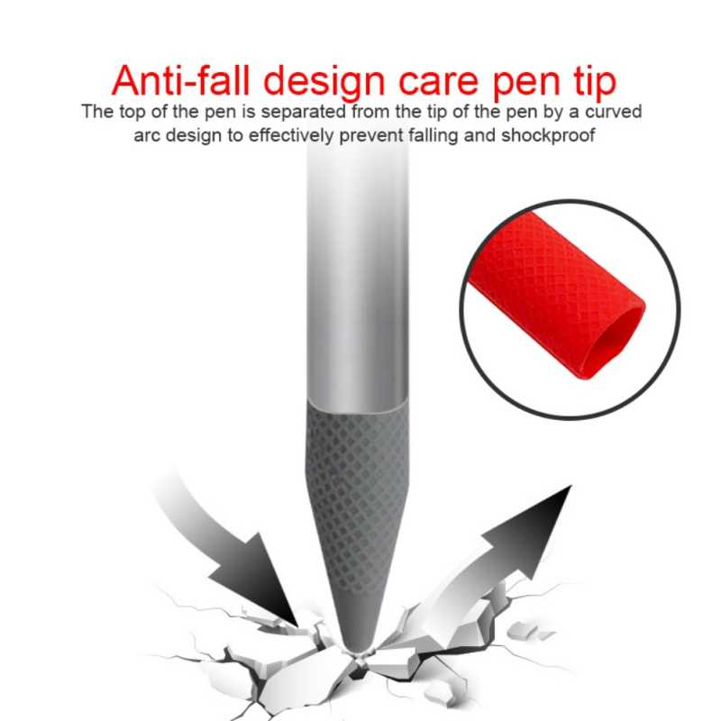 Cubierta protectora Stylus antideslizante desmontable tapa de punta de Nib tableta pantalla táctil anticaída portátil para Microsoft Surface pro 5/6 pluma