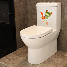 1pcs funny house lizard toilet stickers 3D stereo frog Wall Sticker home Decorative plastics DROP SHIPPING