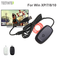 For Xbox 360 Wireless Gamepad PC USB Receiver Adapter Supports Win 7 8 10 System For