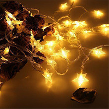 10M 80 LED Five pointed Star shape Twinkle String Light Battery Operated Fairy Lights Party Wedding Christmas Garland Decoration free shipping led little star string lights battery operated 4m 80leds 10m 100leds 220v christmas wedding decoration fairy light