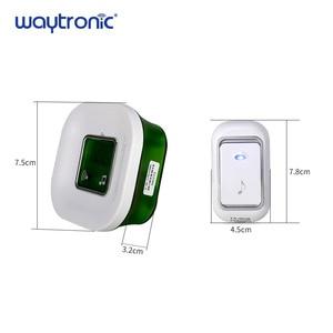 Image 5 - 220V Senza Fili Impermeabile Elettrico Ding Dong Campanello Della Porta con la Temperatura Display Digitale Grande Pulsante del Campanello