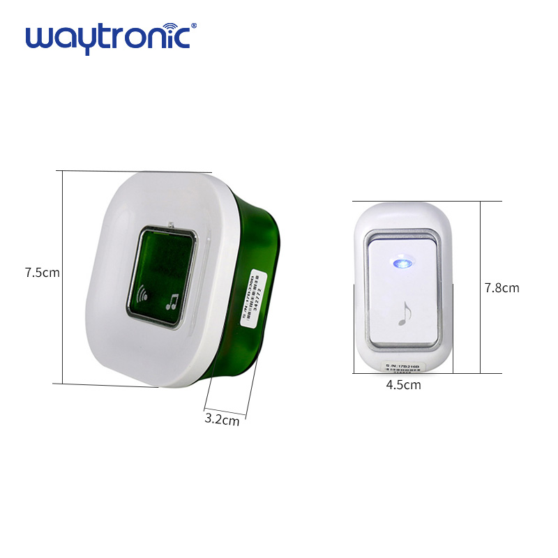 Image 5 - 220V Wireless Electric Ding Dong Door Bell with Temperature Digital Display Big Doorbell Button-in Doorbell from Security & Protection