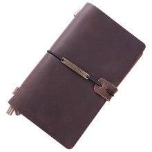 Hot Sale 100% Genuine Leather Notebook Handmade Vintage Cowhide Diary Journal Sketchbook Planner Buy 1 Get 4 Accessories Gift vintage traveler s notebook cowhide diary handmade journal 100