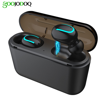 GOOJODOQ Wireless Gaming earphone MINI TWS 5.0 in-ear Sports Wireless Earphone HiFi 3D Stereo Bluetooth headset Waterproof Ture