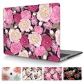 Peony Crystal Clear Case For Mac book Pro 13 15 A1706 A1707 with Touch Bar Floral Print Laptop Case For Macbook Pro 13 A1708