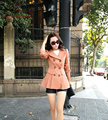 Solid Turn-Down Collar Double-Breasted Windbreaker Lapel Trench Coat Autumn New Slim Long Female Outwear Casaco Feminino