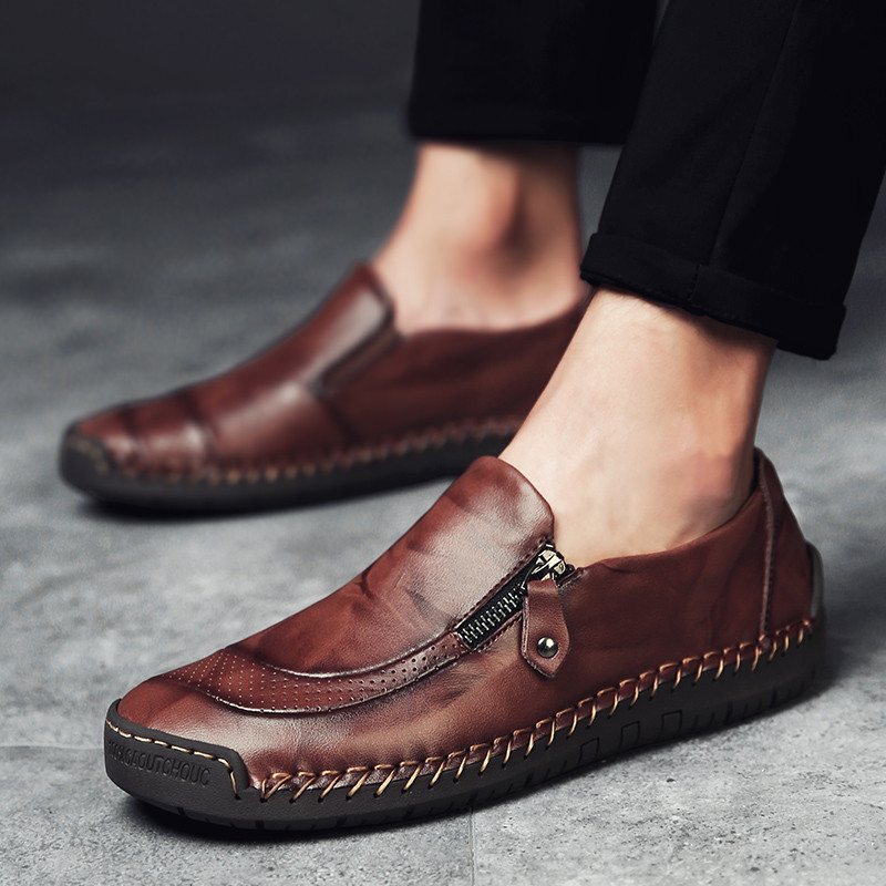 Image 3 - ARIARI Classic Comfortable Casual Leather Shoes Men Loafers Shoes Leather Men Shoes Flats Hot Sale Moccasins Shoes Plus SizeMens Casual Shoes   -
