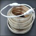High quality 3014 led strip AC220V 120leds/M IP67 waterproof outdoor garden tape rope light with EU Power plug high brightness