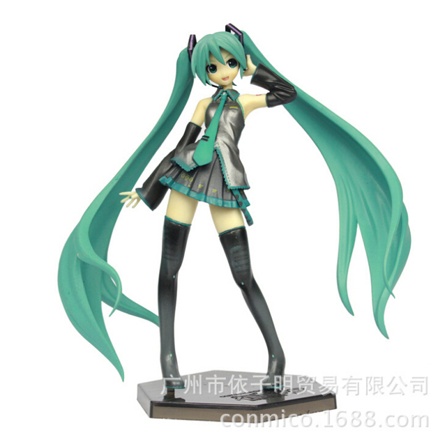 19cm Hatsune Miku 1/8 Scale Painted Action Figures PVC brinquedos Collection Figures toys for christmas gift Free shipping