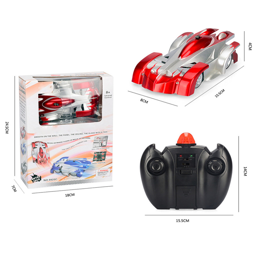 Image 5 - 1PCs RC car Remote Control Climbing RC Car with LED Lights 360 Degree Rotating Stunt Toys Antigravity Machine Wall RC CAR-in RC Cars from Toys & Hobbies