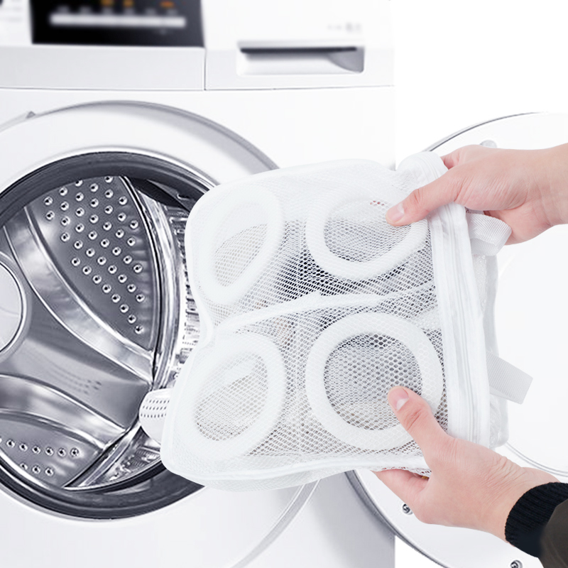 Hanging Dry Sneaker Tennis Boots Shoes Mesh Laundry Bags Wash Machine Shoes Protect Laundry Washing Bag Home Storage Organizer