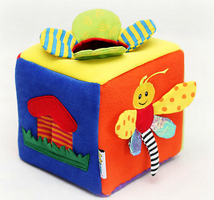 Multifunctional baby Cloth Blocks kid Mobile Music Rattle plush Toy baby toys rattle tinkle hand bell multifunctional plush stroller mobile toy gifts