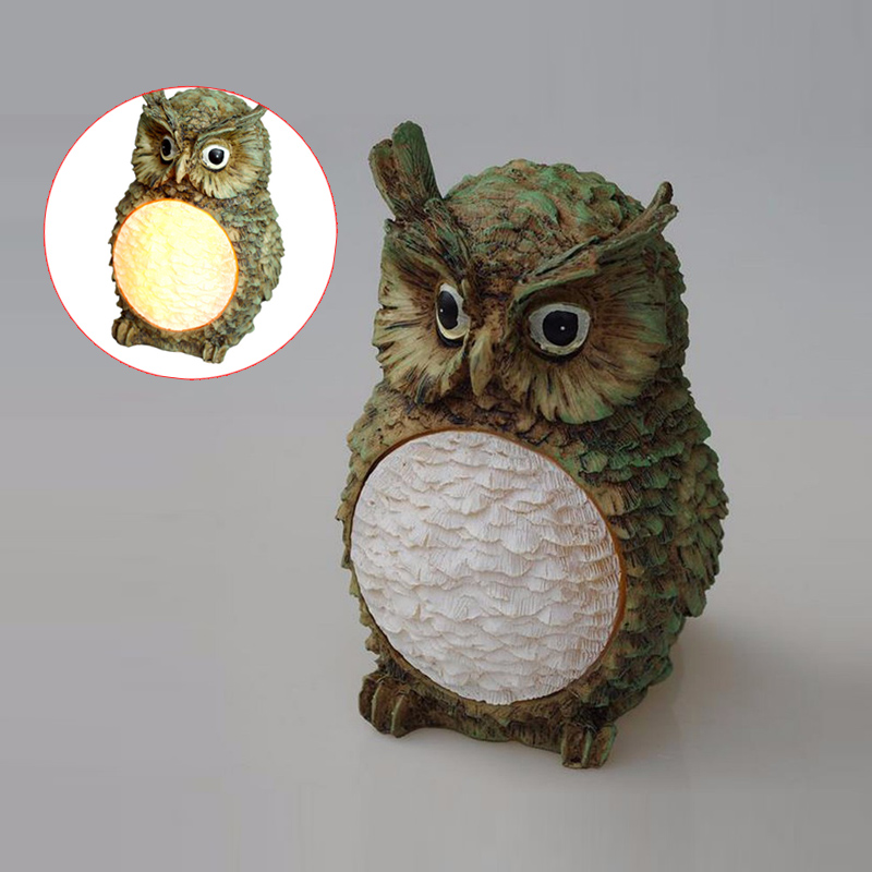 New Cute Owl Style Solar Power LED Villa Garden Lamp Yard Lawn Light Party Path Outdoor