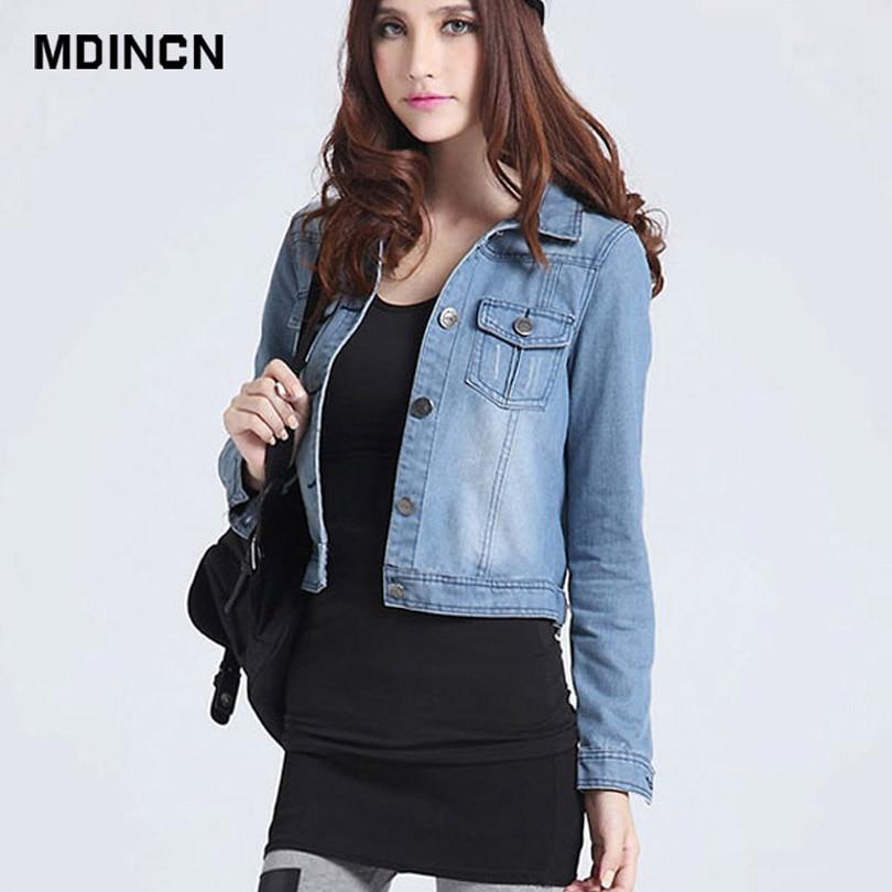 2019 Women Basic Coat Denim Jacket Women Winter Denim Jacket For Women Jeans Jacket Women Denim Coat casual style LR4