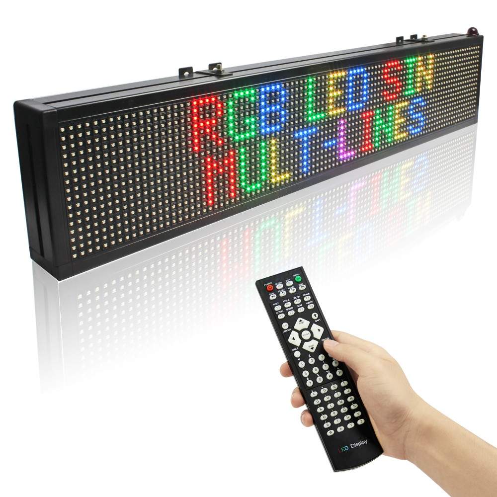 P7.62 RGB Led Display 16128 Dots Matrix Remote Control Programmable Scrolling Message Display Board Indoor Used3