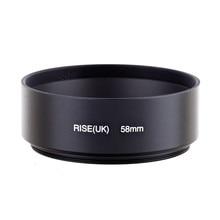 Rise (Великобритания) 58 мм Стандартный винт в Металл бленда для Canon Nikon Sony Pentax Бесплатная доставка
