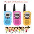 One Pair RT-388 Mini Toy Walkie Talkie Kids Radio 0.5W 8/22CH LCD Display Amateur Two-way Radio Talkly Children Transceiver