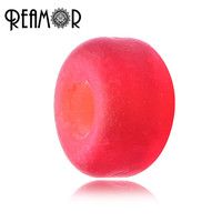 REAMOR New Arrival Colorful Flat Lampwork Glass Beads Jewelry Accessories For DIY Necklace Bracelet
