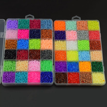 13000Pcs 24 Color Hama Beads 2.6MM Perler Beads DIY Creative Puzzles Tangram Jigsaw Board Educational Baby Kid Toys Gifts
