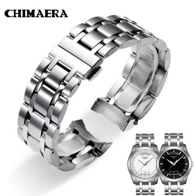 חזיון תעתועי 22mm 23 24 T035617 T035439 רצועת השעון 316L כסף מוצק נירוסטה שעון קישור עבור Tissot Couturier T035 שעון להקה