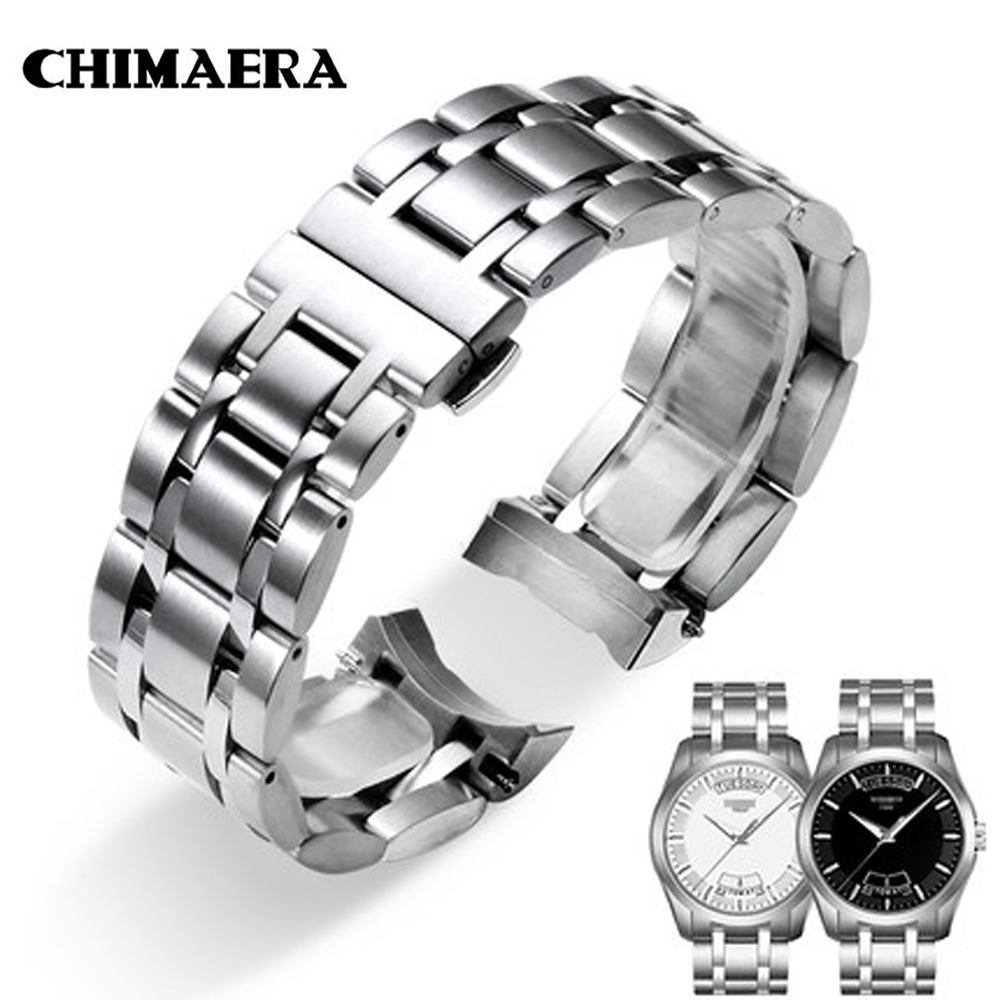 CHIMAERA 22mm 23 24 T035617 T035439 Watchband 316L Silver Solid Stainless Steel Watch Link for Tissot Couturier T035 Watch band 22mm solid stainless steel wristband watch bracelet silver polishing new band for armani ar0399 316l stainless steel