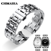 CHIMAERA 23mm T035617 T035439 Watchband 316L Silver Solid Stainless Steel Watch Strap For Tissot Couturier T035