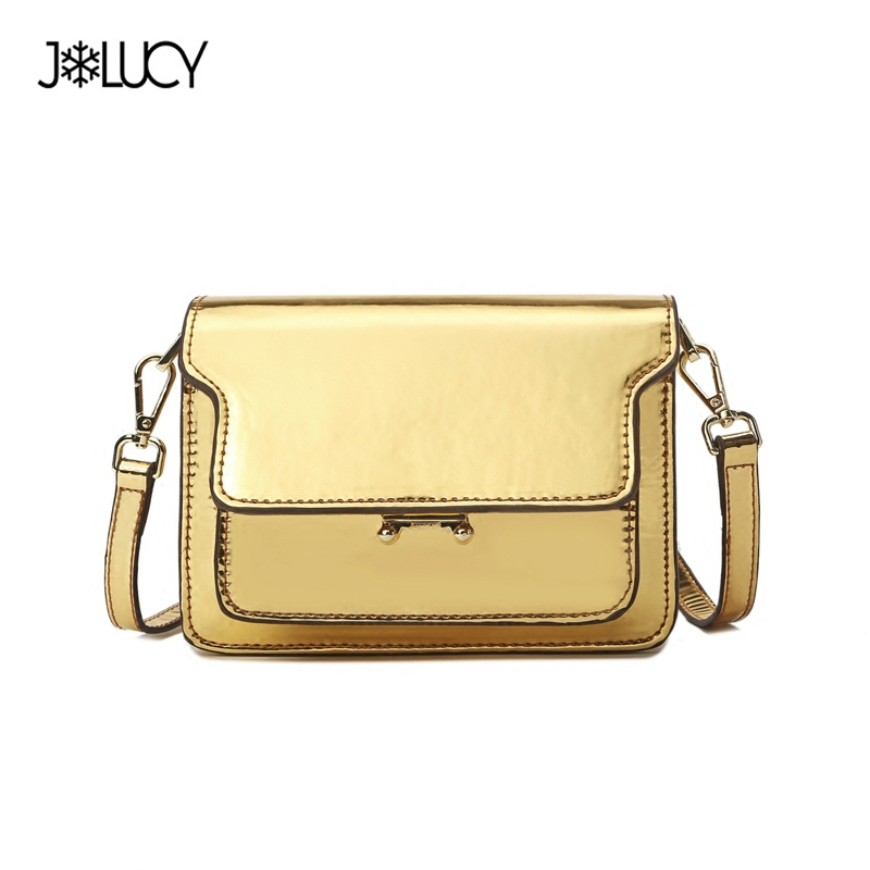 2017 Summer Fashion Brand Design Fashion Light Gold PU Women Leather Girls Ladies Cross Body Bag