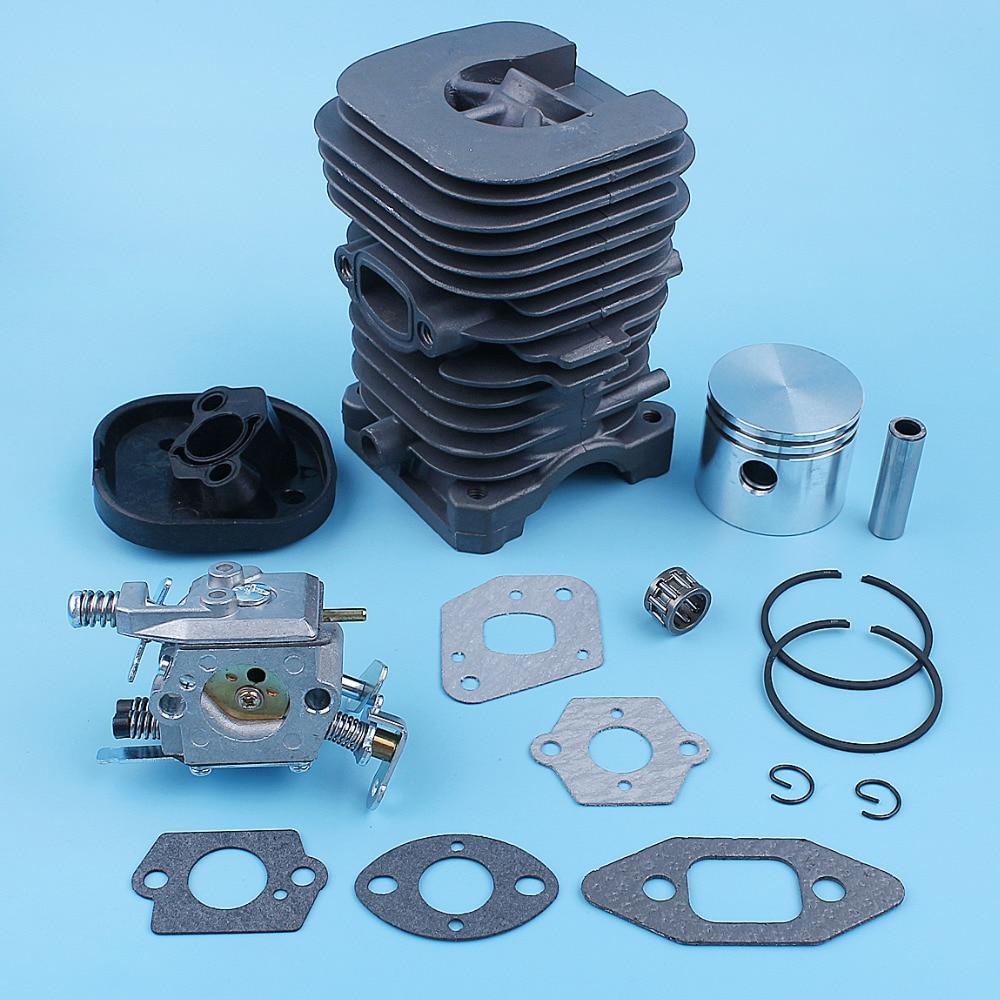 Tools : 41mm Nikasil Cylinder Piston Carburetor Gasket Kit For Poulan 222 260 1900 1950 1975 2025 2050 2055 2075 s1634 s1834 Chainsaw
