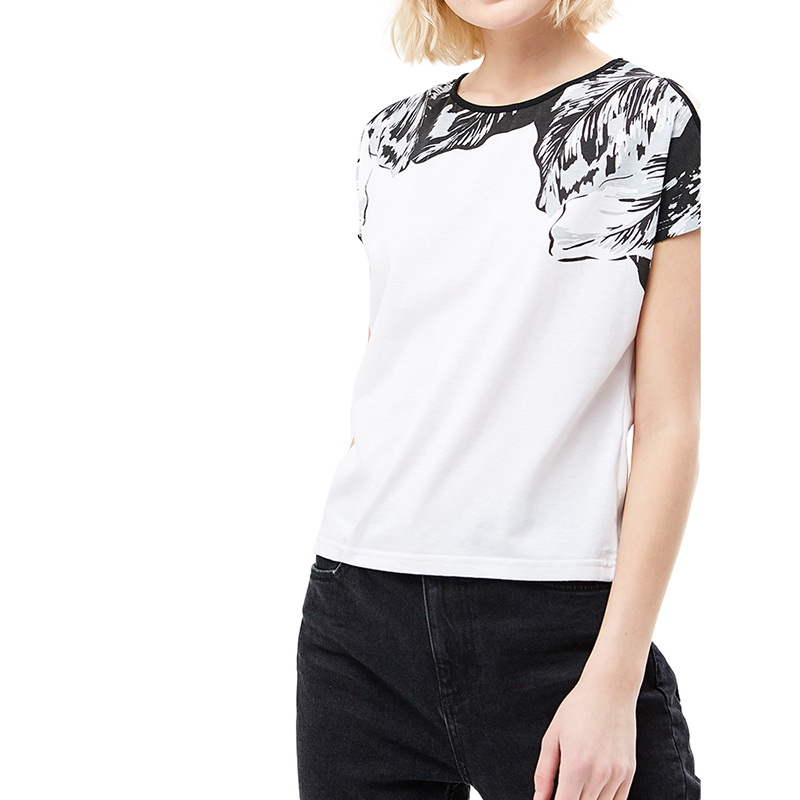 T-Shirts MODIS M181W00636 women shirt cotton for for female TmallFS t shirts t shirt befree for female cotton shirt short sleeve women clothes apparel 1811579424 4 tmallfs