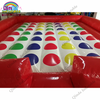 5x5m funny inflatable twister game inflatable twister mattress for kids and adult
