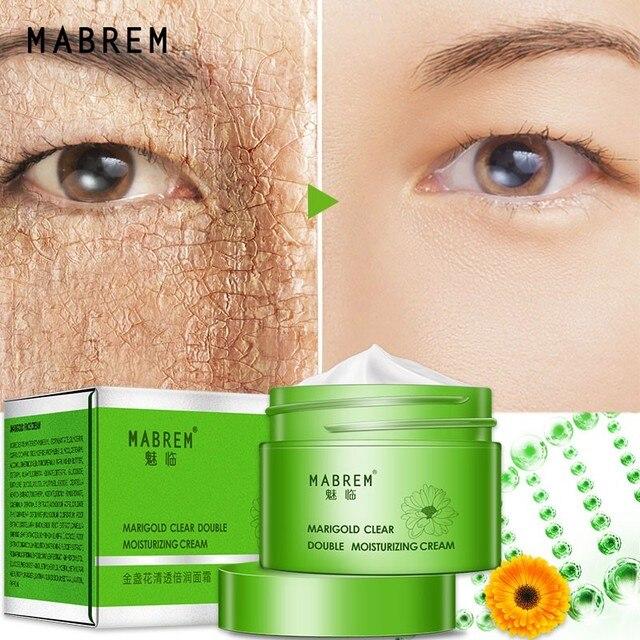 Caléndula Anti-envejecimiento cara crema hidratante nutritiva blanqueamiento esencia la eliminación de arrugas reparación los poros alivia duro de la piel seca