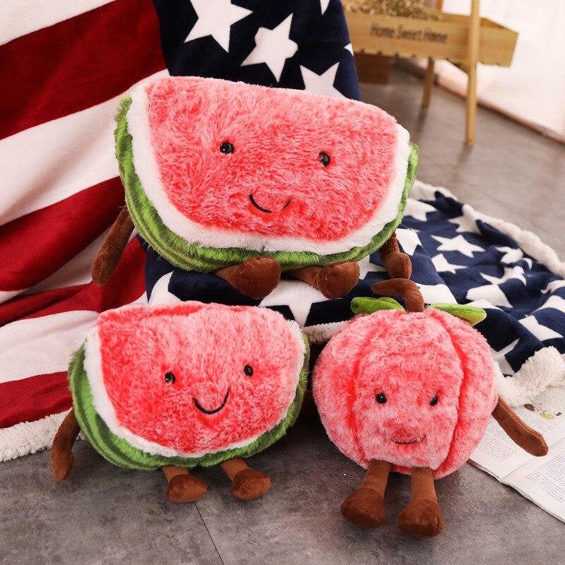 Alarm Vanmajor Leuke Watermeloen Cherry Pluche Speelgoed Mooie Cartoon Fruit Pluche Kussen Soft Gevulde Doll Verjaardag Kerstcadeaus Een Compleet Scala Aan Specificaties