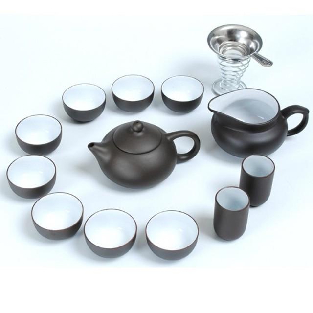 Cerâmica chá conjunto bule de kung fu chá embalagem de presente